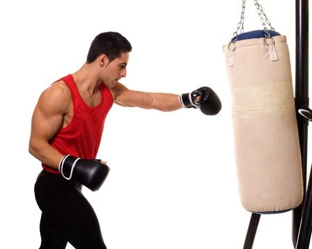 Heavy Bag Workout Stock Photo - 12284939