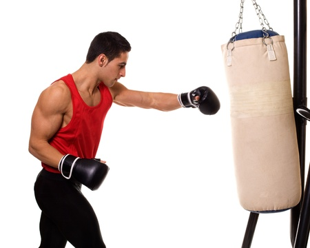 Heavy Bag Workout Stock Photo - 12284939