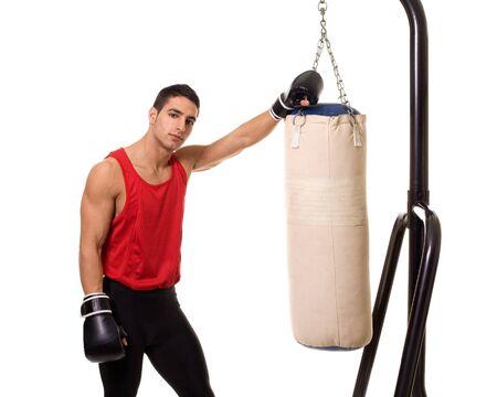 ヘビーバッグ トレーニング 写真素材