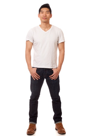 smirk: Casual Young Man Stock Photo