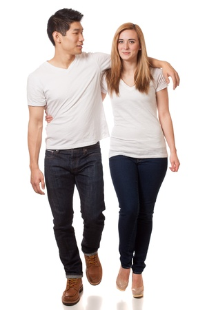 tee shirt: Casual Young Couple