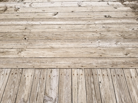 Weathered wood plank boardwalk for background or texture. Reklamní fotografie