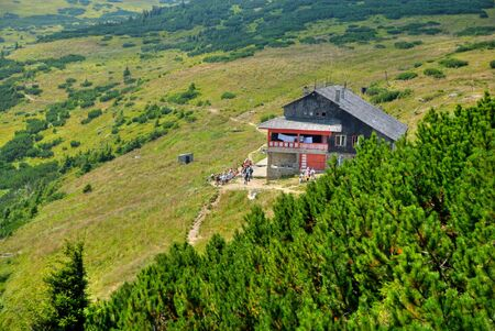 dochia hut, resting and recovering place on ceahlau mountain, romania