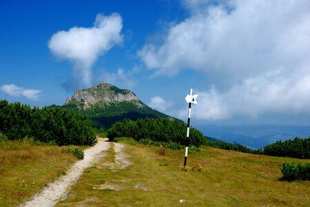 La forma de pico de Toaca, en las monta�as Ceahlau, Rumania Foto de archivo - 5464302