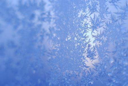 chrystals: an abstract macro blue ice background