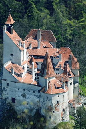 bran: Draculas castle located in Bran, Brasov county, Transylvania Stock Photo