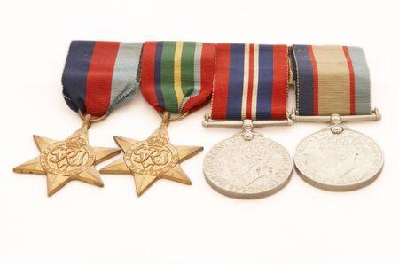 World War II medals Standard-Bild