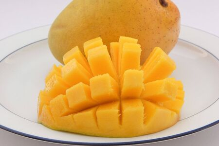 Sliced and Cubed Mango