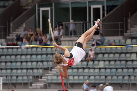 Pole Vaulter on the way up