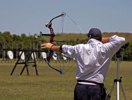 An archer pulling his bow