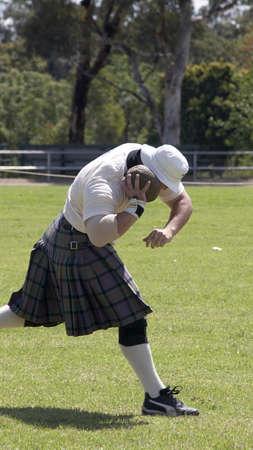 Scottish Highland games - the shot put Standard-Bild