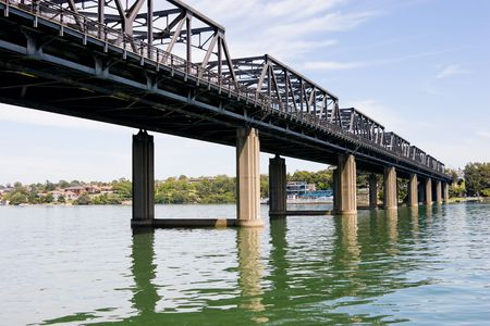 Iron Cove Bridge - Across Parramatta River, Sydney, Australia Standard-Bild