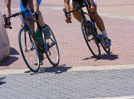 Two cyclists in a race Standard-Bild