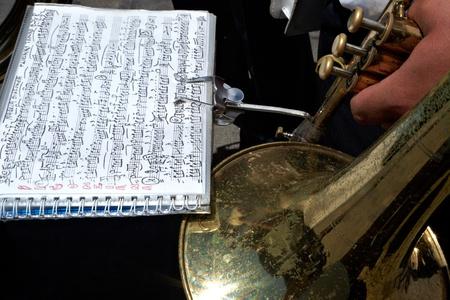 octaves: Old trumpet