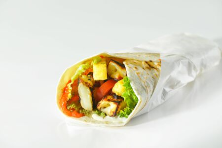GREEK TRADITIONAL FAST FOOD MEAT MEAL