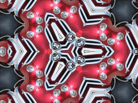 Beautiful classic hood ornaments kaleidoscope Imagens