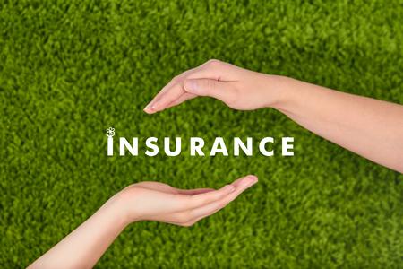 Family life insurance, protecting family, family concepts. Stock Photo
