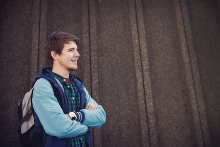 Confident Smiling young student Stock Photo