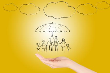 Family life insurance Stock Photo