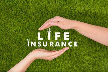 Family life insurance, protecting family, family concepts. Archivio Fotografico