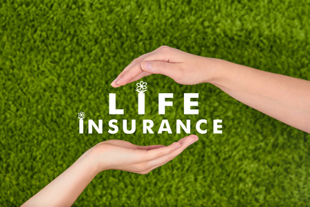 life insurance: Family life insurance, protecting family, family concepts. Stock Photo