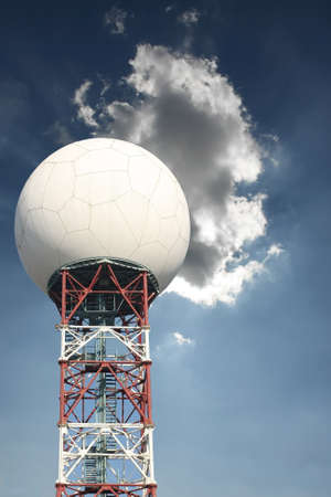 weather radar on cloudy blue sky photo