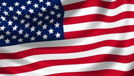 american flag waving in the wind detail Stock Photo - 11004304