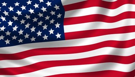 naciones unidas: bandera americana ondeando en el viento detalle