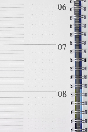 Blank Note pad - spiral notebook Stock Photo - 11069520