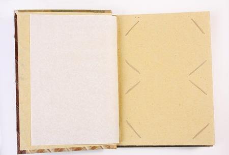 Paper photo album isolated on white  photo