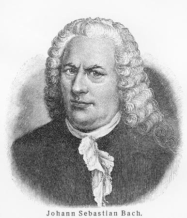 composer: Johann Sebastian Bach ;Picture from Meyer lexicon book edition 1905-1909  Editorial