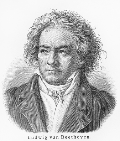 Ludwig van Beethoven ; Picture from Meyer lexicon book edition 1905-1909