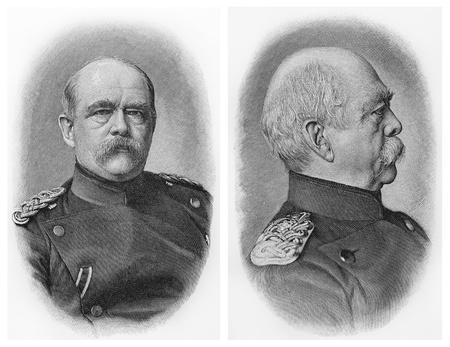 lexicon: Otto Von Bismarck ; Picture from Meyer lexicon book edition 1905-1909