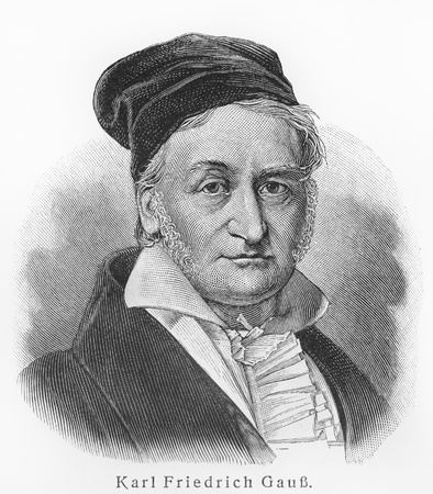Carl Gauss ; Picture from Meyer lexicon book edition 1905-1909