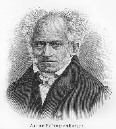 Arthur Schopenhauer ; Picture from Meyer lexicon book edition 1905-1909