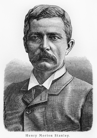 Henry Morton Stanley ; Picture from Meyer lexicon book edition 1905-1909   Editorial
