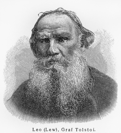 Leo Nikolayevich Tolstoy ; Picture from Meyer lexicon book edition 1905-1909  Editorial