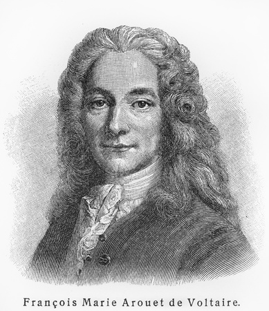 18th century: Francois Marie Voltaire ; Picture from Meyer lexicon book edition 1905-1909  Editorial