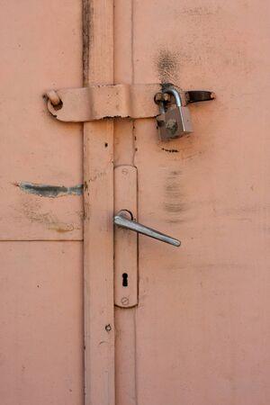 Locked door detail photo