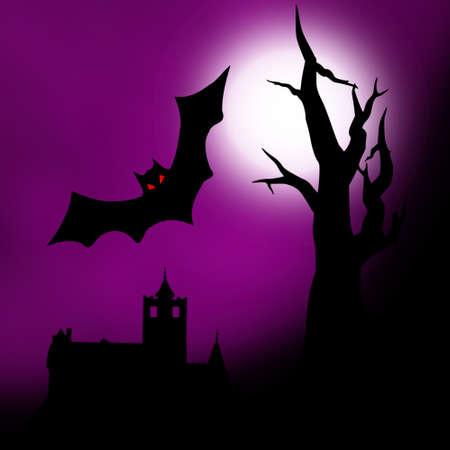 dracula: Halloween illustration Stock Photo