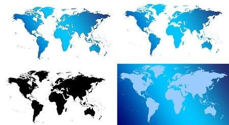 trave: World map collage illustration