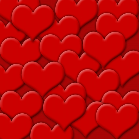 shiny hearts: Red hearts valentine background Stock Photo