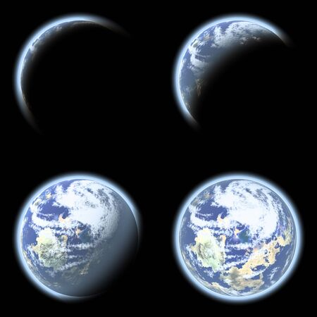 Earth planet collage