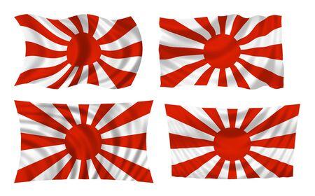 Japanese war flag collage illustration  illustration