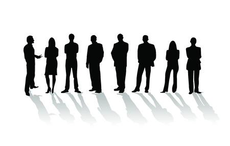Mensen uit het bedrijfsleven silhouet Stockfoto
