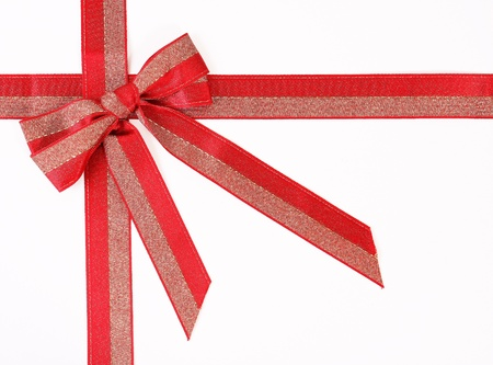 knotting: Gift red bow isolated on white
