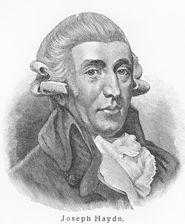 composer: Joseph Haydn - Picture from Meyers Lexicon books written in German language. Collection of 21 volumes published  between 1905 and 1909.