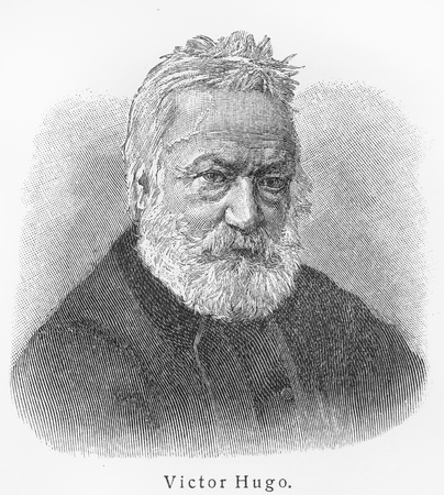 essayist: Victor Hugo - Picture from Meyers Lexicon books written in German language. Collection of 21 volumes published  between 1905 and 1909.