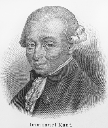 immanuel: Immanuel Kant - Picture from Meyers Lexicon books written in German language. Collection of 21 volumes published between 1905 and 1909.