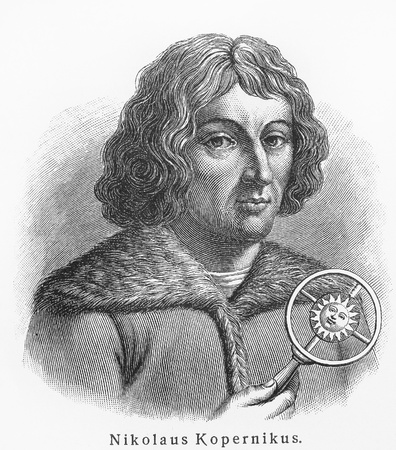 Nicolaus Copernicus - Picture from Meyers Lexicon books written in German language. Collection of 21 volumes published between 1905 and 1909.